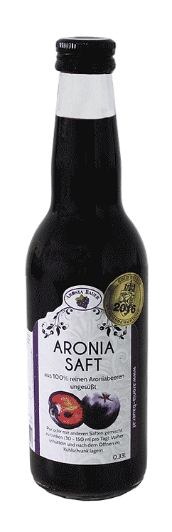 Bio Aronia Saft - ungesüßt 0,33lt.