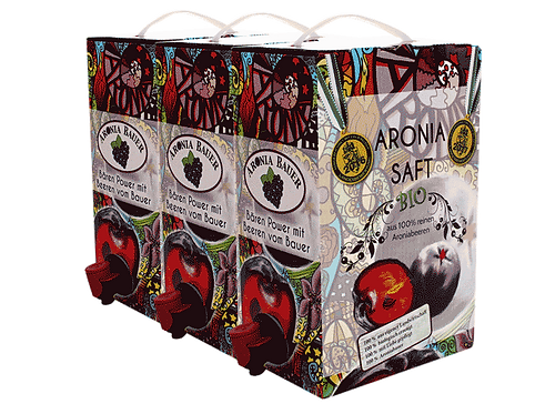 Bio Aronia Saft - ungesüßt 3 x 3lt