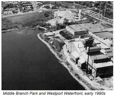 Middle Branch Park and Westport Waterfront, early 1990s
