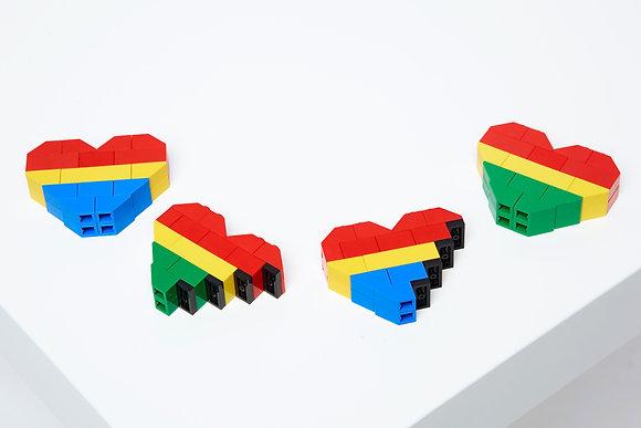 LEGO HEART BROOCH 2.0