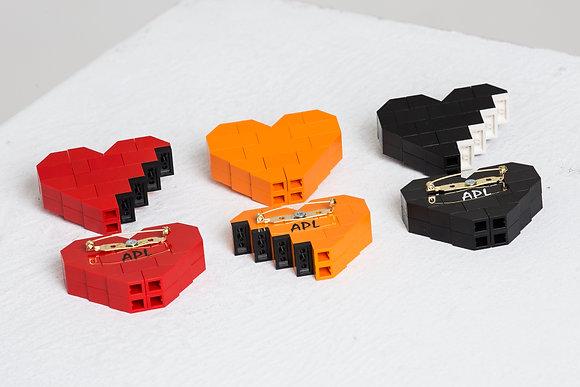 LEGO HEART BROOCH