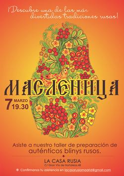 Celebración de la Maslenitsa 2019 Casa Rusia Madrid