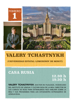Encuentro con Valery Tchastnykh 2019 Casa Rusia Madrid