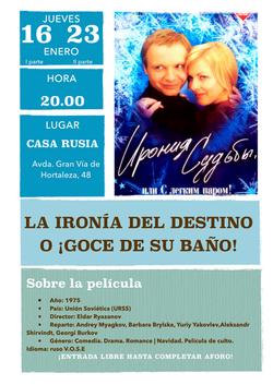 Proyección de la película Ironia del destino Casa Rusia Madrid