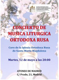 Concierto de música litúrgica ortodoxa rusa en el Ateneo de Madrid. Colaboración con la Casa Rusia M