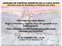 JORNADA DE PUERTAS ABIERTAS EN CASA RUSIA MADRID