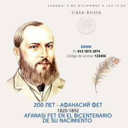 Celebración del Bicentenario del nacimiento de Afanasi Fet en Casa Rusia Madrid