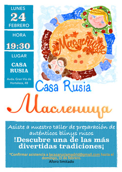 Celebración de la Máslenitsa 2020 Casa Rusia Madrid