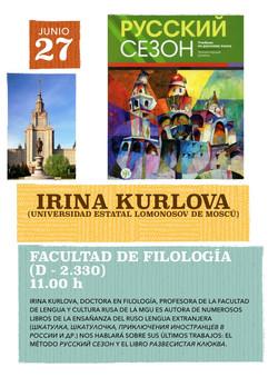 Encuentro con Irina Kurlova en Casa Rusia Madrid