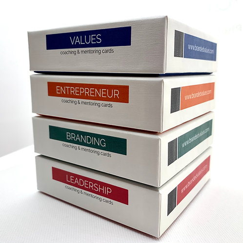 Branded Values Cards - set of 4.