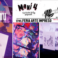 Feria Maní de Arte impreso 4 en Revolución CC, Córdoba 2017