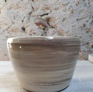 Pot pour les plantes en grès, diam. 14 par 10 cm de hauteur