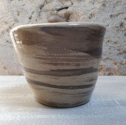 Pot pour les plantes en grès, diamètre 14cm par 10cm de Hauteur
