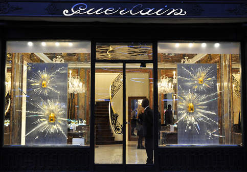 Vitrines Guerlain - Noël 2013 (Nouvelle boutique des Champs Elysées)