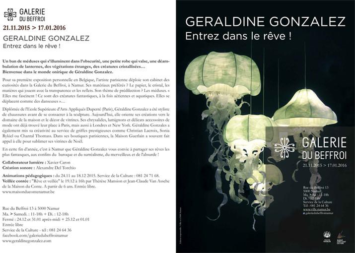 Exposition Galerie du Beffroi à Namur (Belgique), du 21.11.15 au 17.01.16