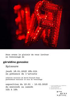 Exposition Progress Gallery (Paris), du 19.01.18 au 10.02.18