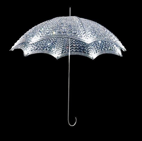 Géraldine Gonzalez, ombrelle, crystal, cristal, led