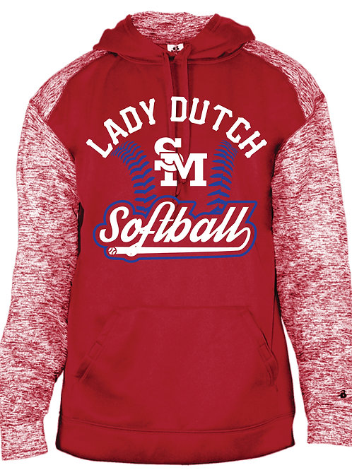 Lady Dutch Softball Color Blend Hoodie