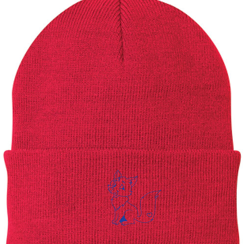 #CP90 knit cap Beanie Athletic Red