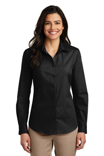 Port Authority® Ladies Long Sleeve Carefree Poplin Shirt
