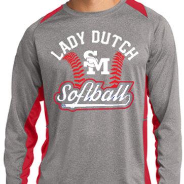 Lady Dutch Softball Colorblock Long Sleeve