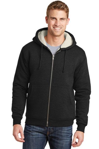 CornerStone® Heavyweight Sherpa-Lined Hooded Fleece Jacket