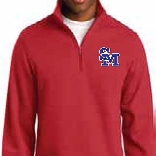 #ST253 1/4 zip sweatshirt True Red