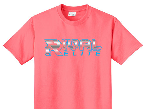 Neon Coral Beach Washed T-shirt
