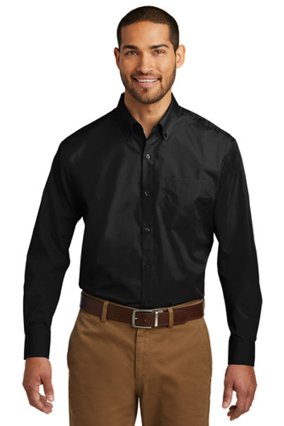 Port Authority® Tall Long Sleeve Carefree Poplin Shirt