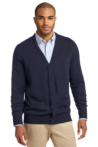 Port Authority® Value V-Neck Cardigan Sweater with Pockets