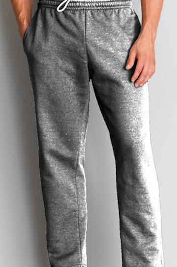 12300 Gildan DryBlend 9.3 Ounce Adult Open Bottom Pocketed Sweatpants