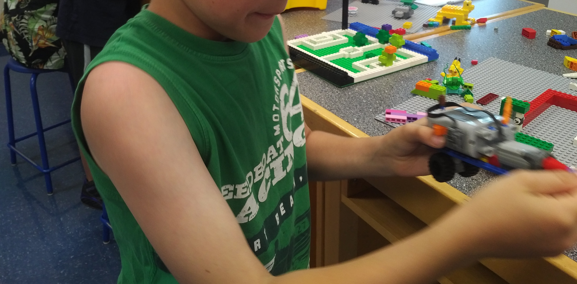 Using our LEGO motor to build vehicles