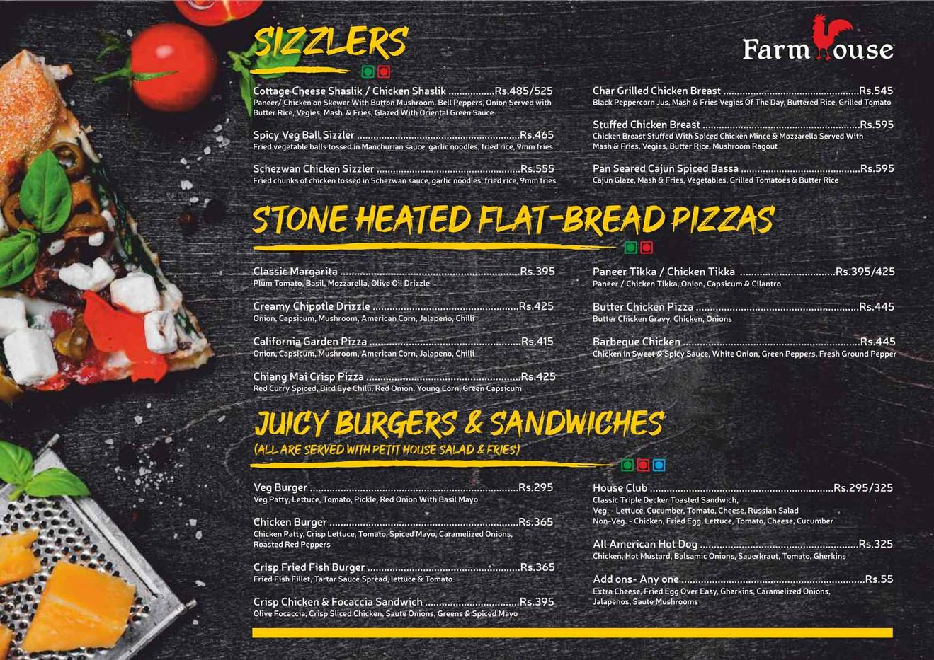 Farm House Borivali New food & Bar menu_