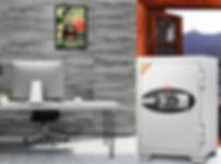 Cofres Antifogo HS80 EHK Takemura Cofres - Importado com exclusividade.  Cofre antifogo projetado para proteção de documentos, objetos de valores, dinheiros e joias contra roubo e incêndio com temperatura de 1010 °C.  Dispõe de fechadura eletrônica programável para dois usuários com travas interna de alta segurança.  Ideal para uso em escritórios, residências e no comércio em geral.