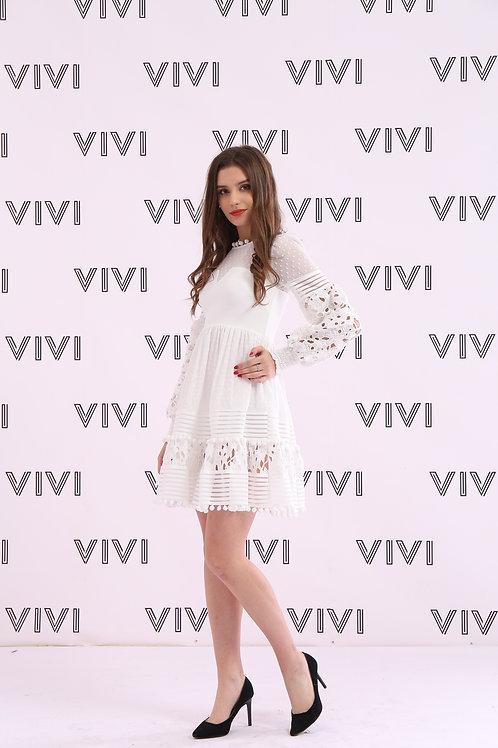 Chiffon Mini dress -فستان شيفون قصير