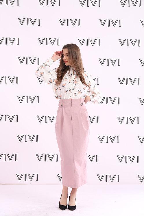 تنورة ميدي ناعم ومتألق -Midi Skirt