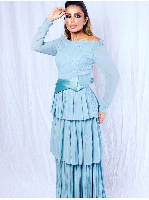 Maxi trend Dress - فستان انيق مع حزام من الخصر