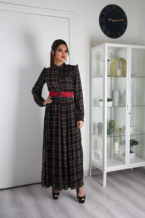 فستان طويل كروهات بأكمام طويلة عصرية وأنيقة