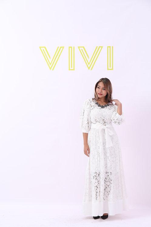 Maxi White Jober Dress - فستان ابيض طويل جوبير