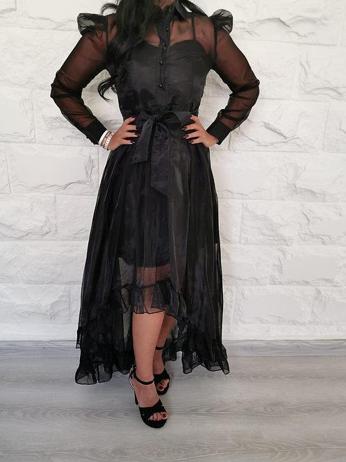 فستان بأكمام طويلة بتصميم أنيق فريد