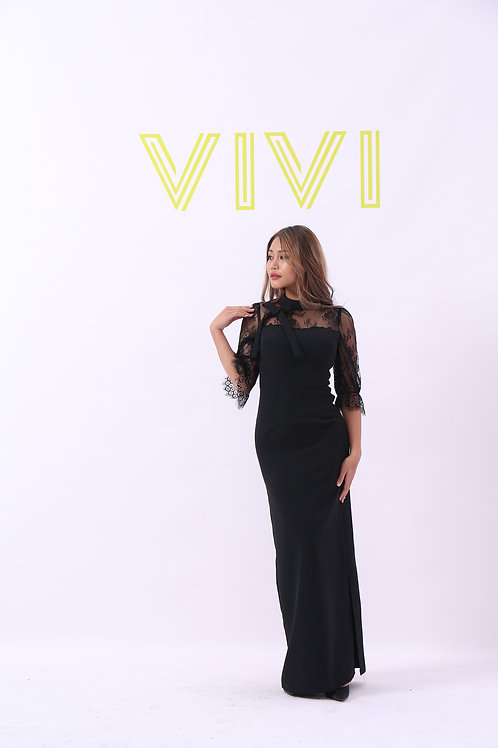 Elegant Dantel Maxi dress - فستان فخم دانتيل ماكسي