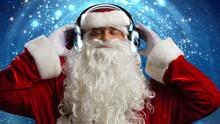 Santa Is Digging His Holiday Playlist