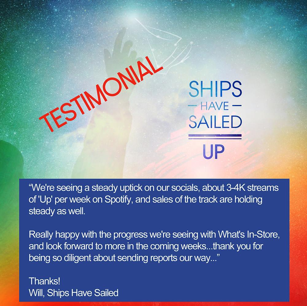 Ships Have Sailed Testimonial