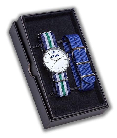 Set of wrist watch with spare watch strap in gift box