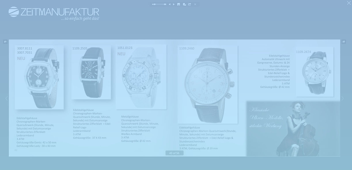 eCatalogue of White Label watch collection