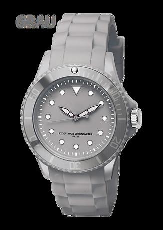 Color Werbe-Uhr Grau bei Zeitmanufaktur