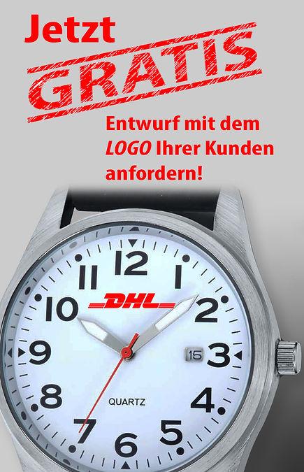 GRATIS Entwürfe mit dem Logo und Uhrenmodell Ihrer Wahl, bei Zeitmanufaktur