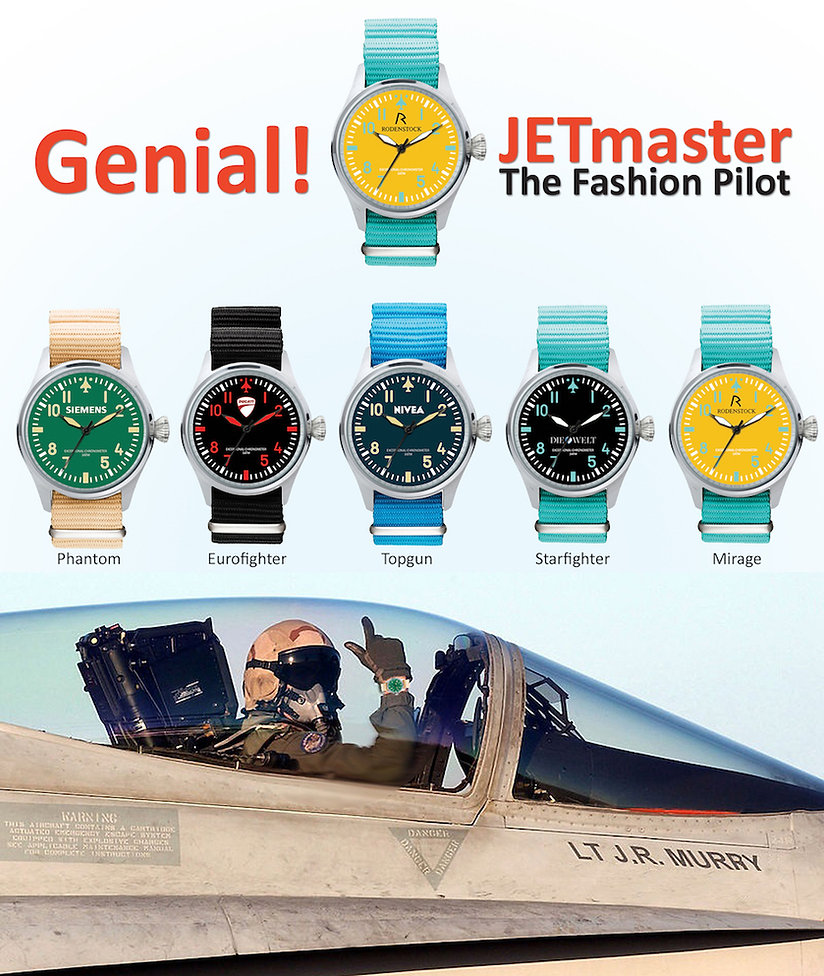 The trendsetting pilot watch in fresh and trendy colors