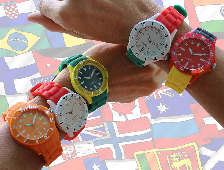 watches in country flag colors