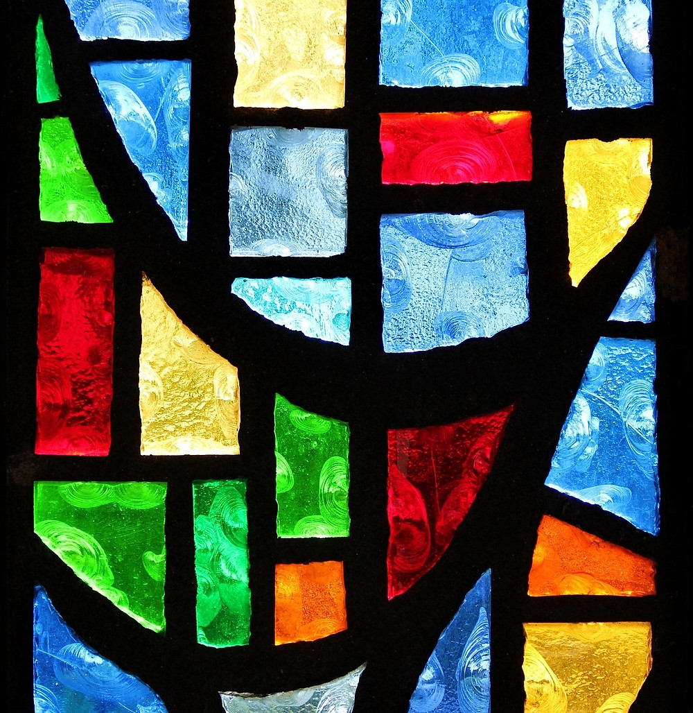 stained glass, image by Kevin McIver, on Pixabay
